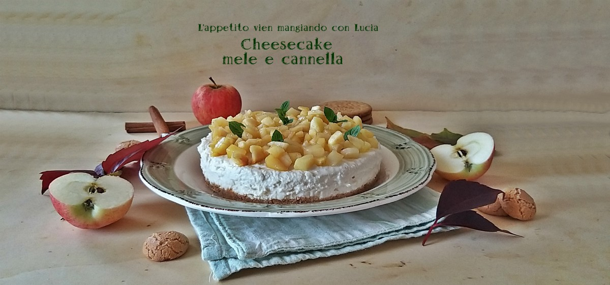 Cheesecake mele e cannella
