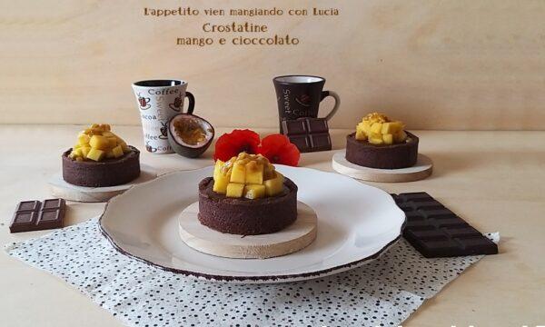 Crostatine mango e cioccolato