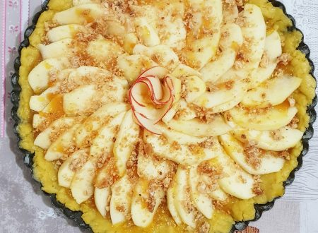 Crostata con Marmellata di Arance Amare di Sicilia con Mele e Crumble di Nocciole
