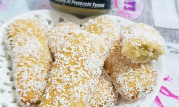 Pavesini con crema di Pistacchi e Cocco