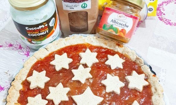 Crostata #glutenfree con farina di semi di lino olio di cocco e confettura extra di albicocche