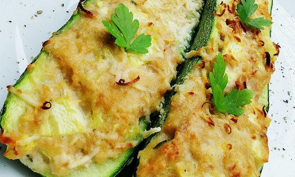 Zucchine ripiene di filetti di tonno e ricotta salata