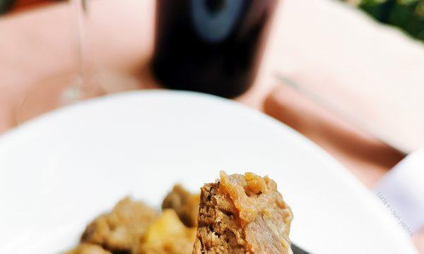 Spezzatino di Sorana con patate cipolla e pancetta