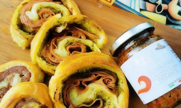 Girelle di pasta sfoglia con Stuzzico mix piccante