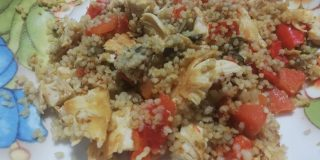 couscous con pollo arrostito