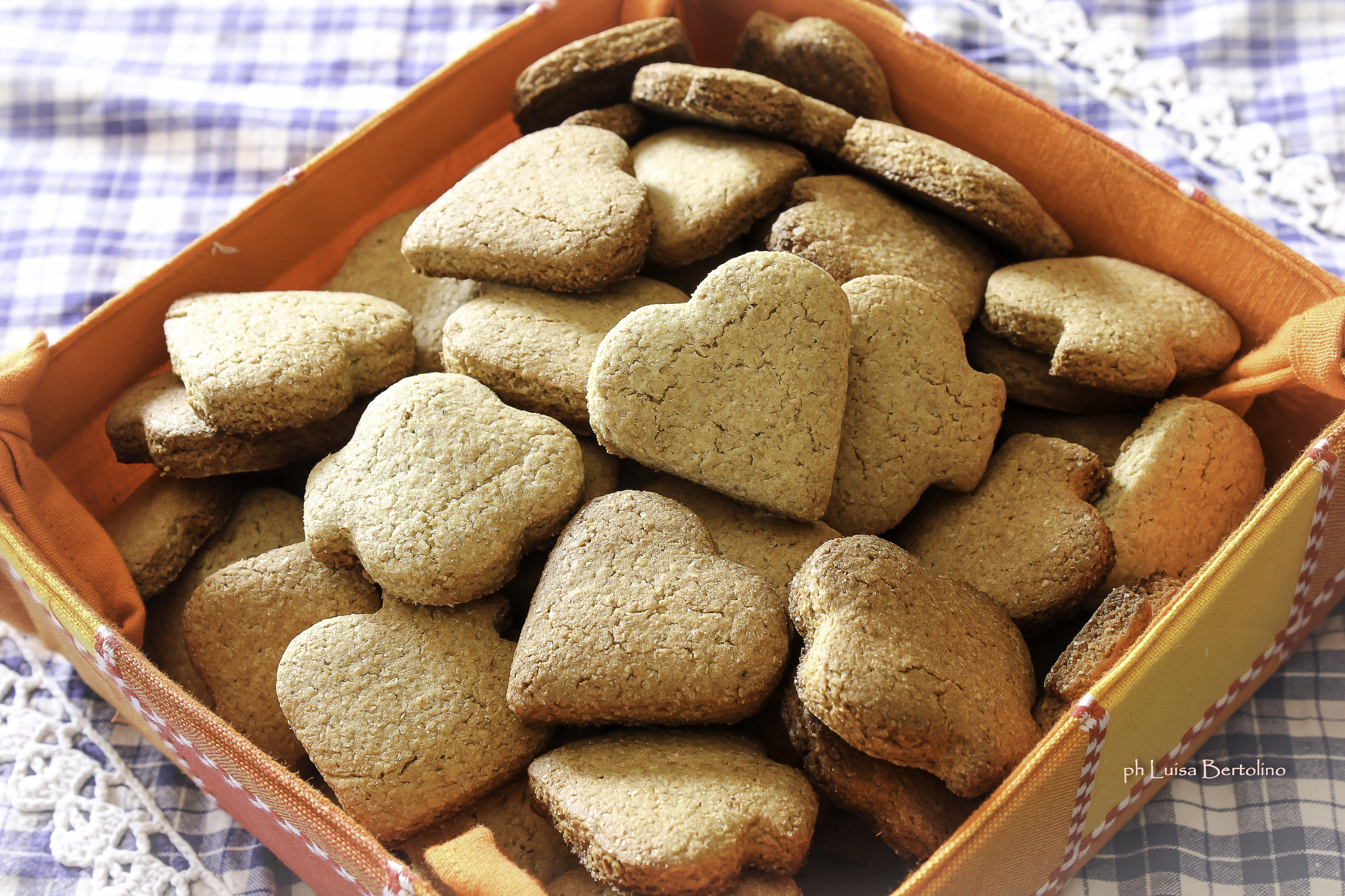Biscotti integrali con zucchero di canna