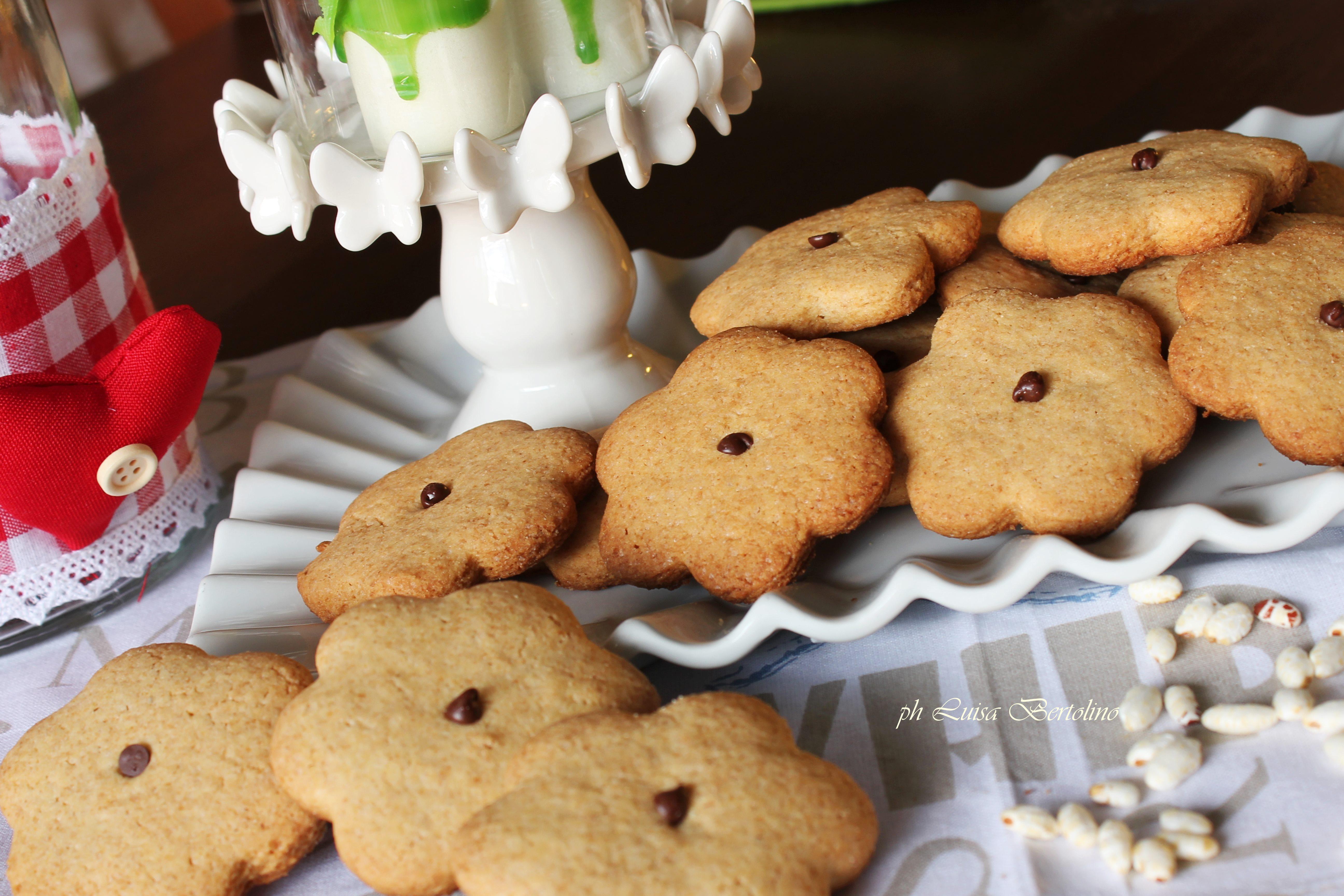 Biscotti con farina di farro integrale e farina di riso ( senza glutine)