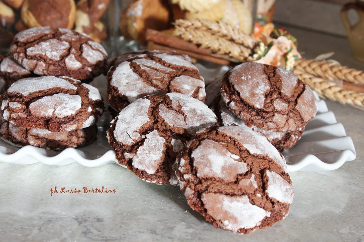 Biscotti cuore morbido al cioccolato