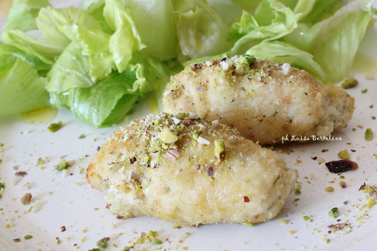 Involtini di pollo con ricotta e pistacchio