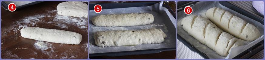 Pane con farina di farro e olive