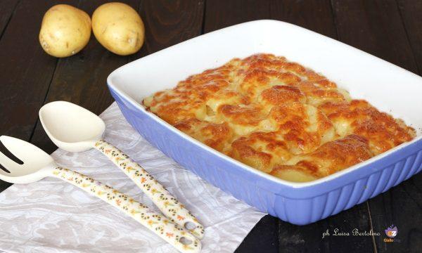 Tortino di patate e formaggio gratinato