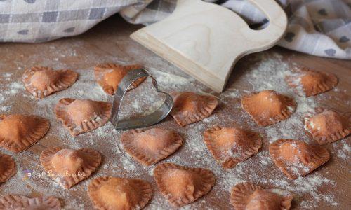 Cuori di pasta fresca alla ricotta