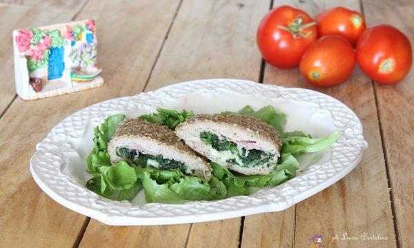 Ravioli di carne con prosciutto e spinaci