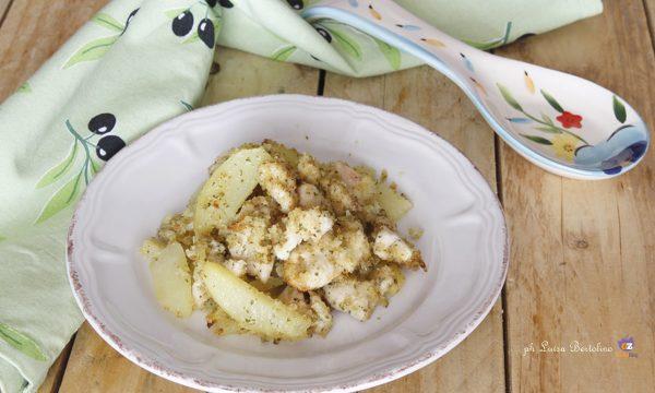 Straccetti di pollo e patate gratinati