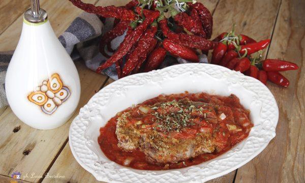 Filetto di carne in marinata di pomodoro