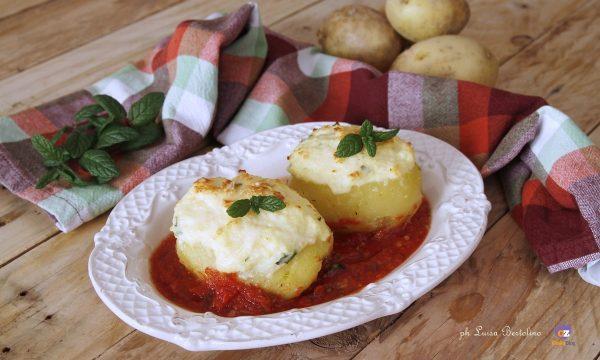 Barchette di patate con ricotta