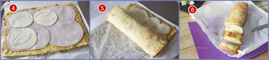 Rollè di patate con prosciutto e formaggio