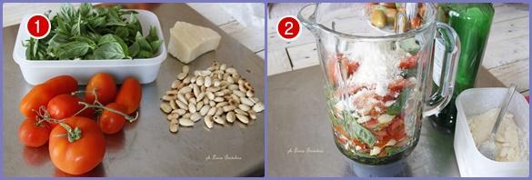 Pesto siciliano con pomodori e mandorle