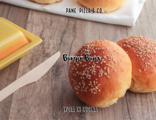 Burger buns, impasto con latte di kefir