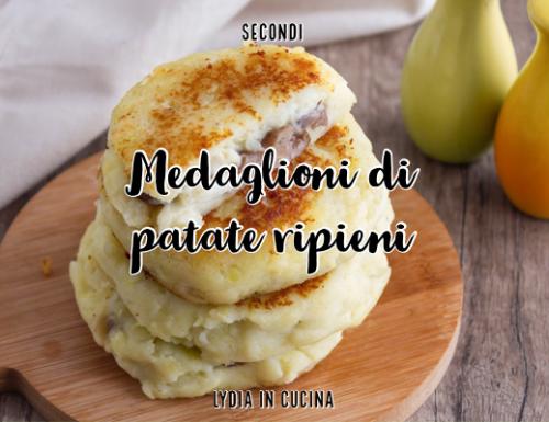 Medaglioni di patate ripieni di funghi e mozzarella
