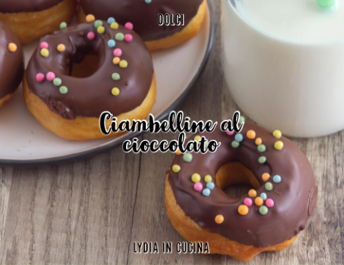 Ciambelline al cioccolato fondente
