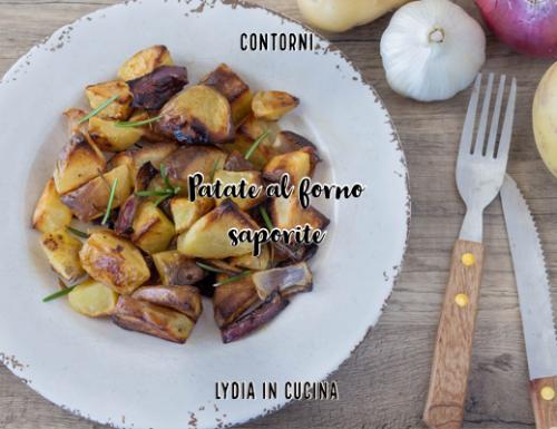 Patate al forno saporite, ricetta genuina e gustosa