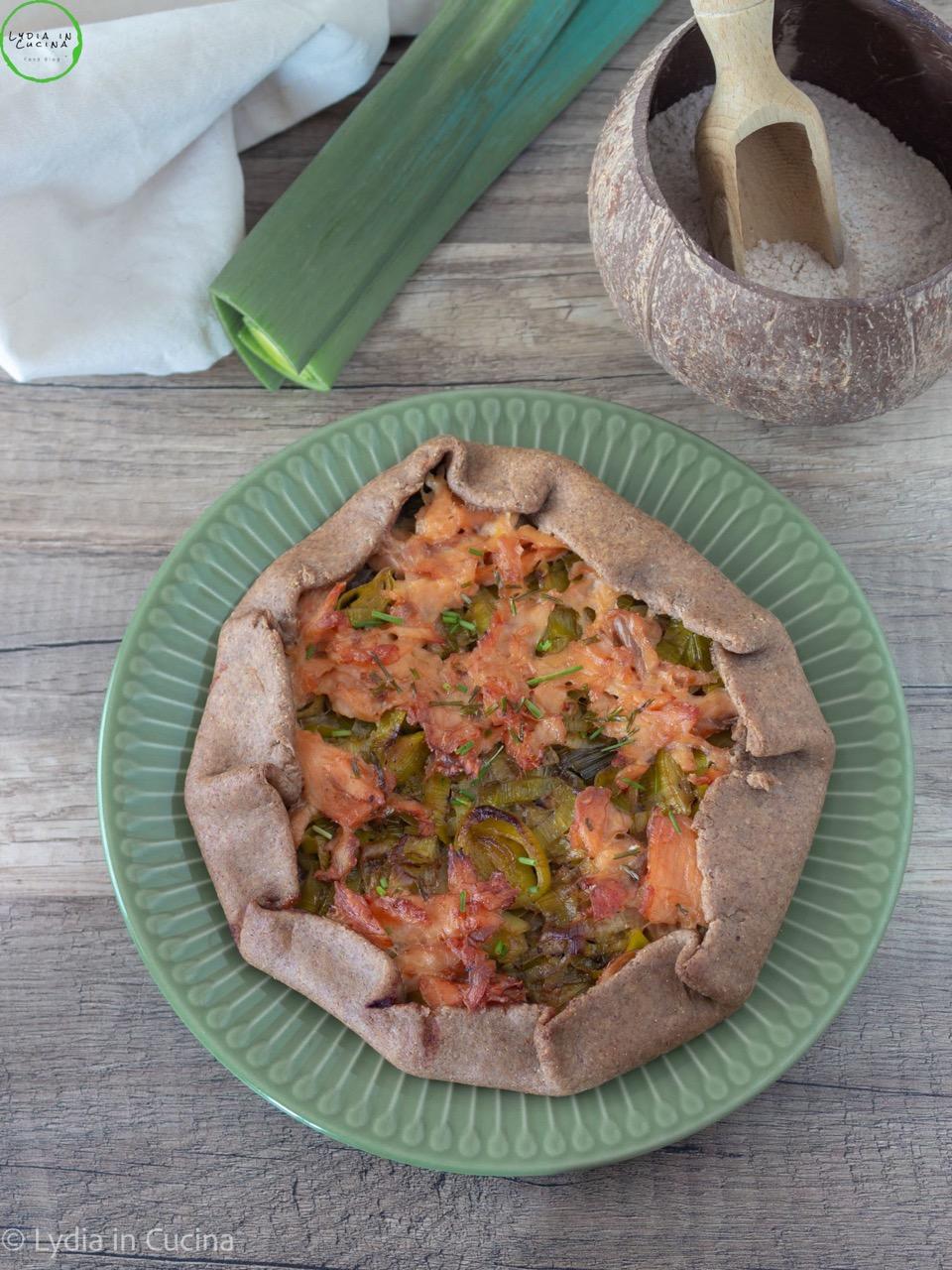 galette al salmone