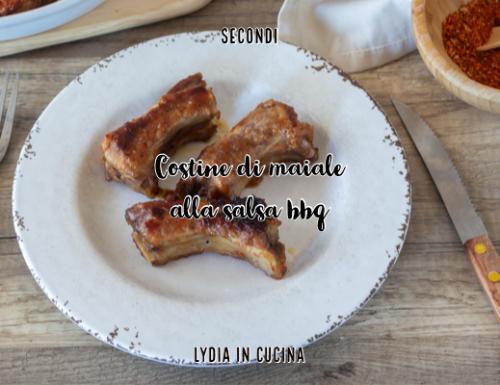 Costine di maiale alla salsa barbecue