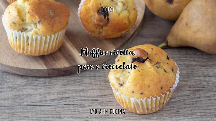 muffin alla ricotta e pera