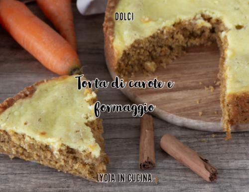 Torta di carote e formaggio spalmabile