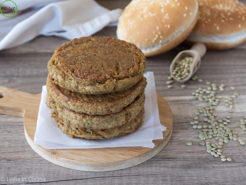 burger di lenticchie senza glutine