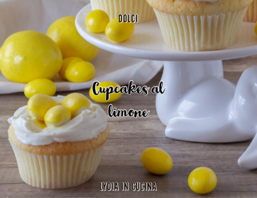 Cupcakes al limone con frosting alla ricotta