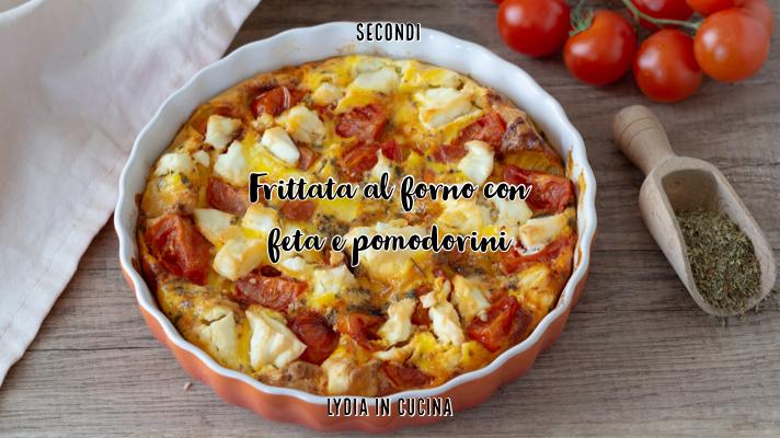 frittata al forno con feta e pomodorini