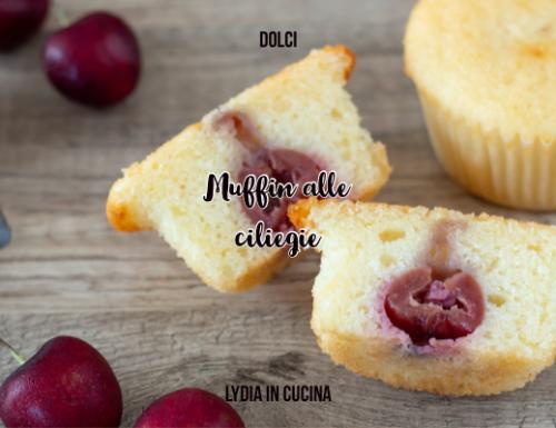 Muffin alle ciliegie, morbidissimi allo yogurt