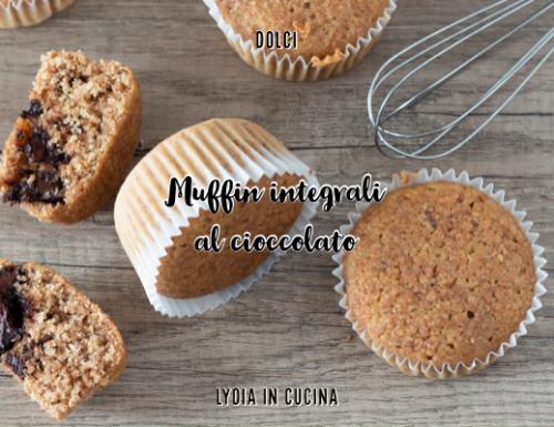 Muffin integrali al cioccolato naturalmente senza lattosio