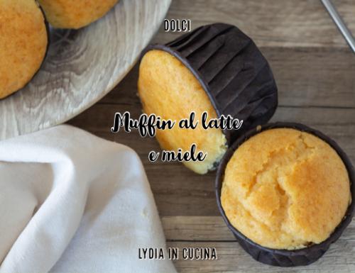 Muffin al latte e miele, genuini e buonissimi