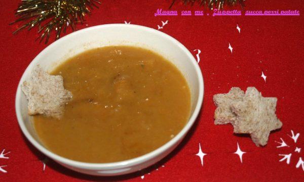 Zuppetta zucca-porri-patate