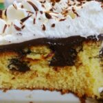 Poke cake all'arancia e cioccolato