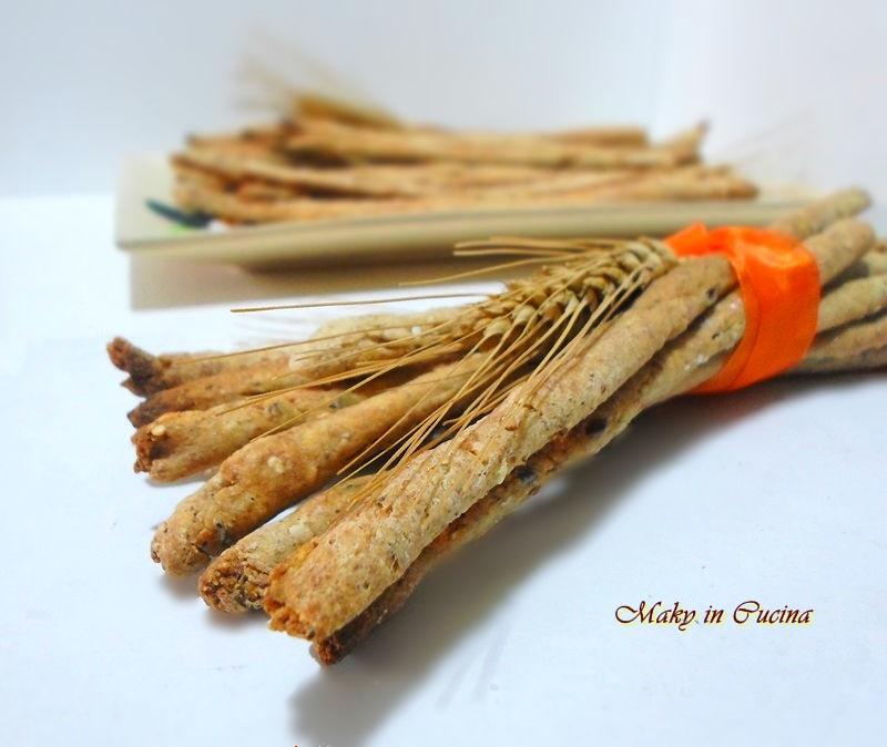Disegno cucinare i semi di lino photographs : Grissini con semi di lino e sesamo | Maky in Cucina