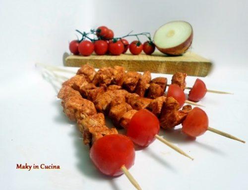 Spiedini di pollo alla paprika