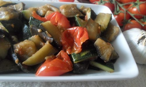 Melanzane e zucchine funghetto