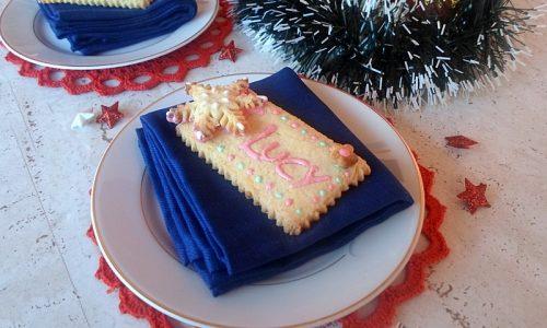 Biscotti segnaposto natalizi
