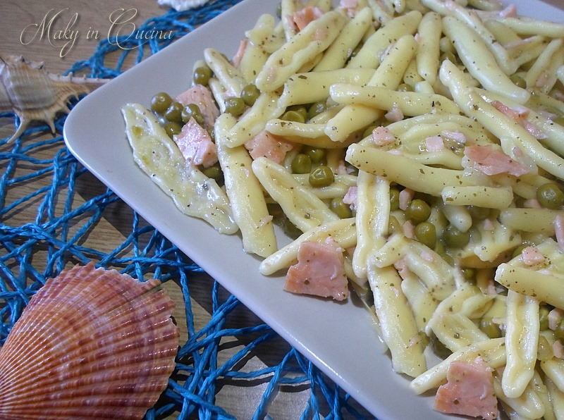 Pasta salmone e piselli