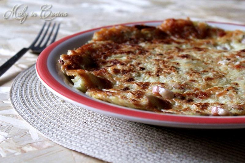 Finta frittata patate e pancetta