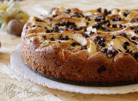 Torta mele, noci e cioccolato