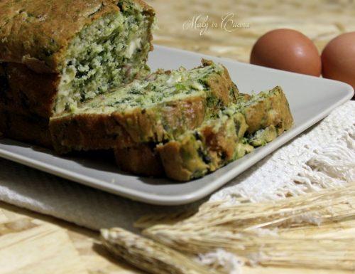 Plumcake salato ricotta e spinaci