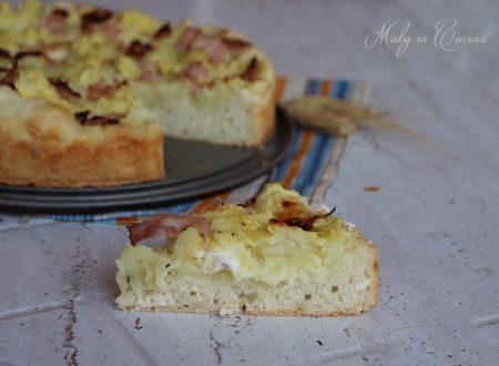 Focaccia morbida con sbriciolata di patate