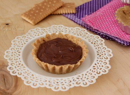 Crostatine senza cottura alla Nutella