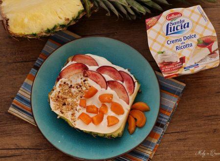 Fruit Pizza ananas e crema di ricotta