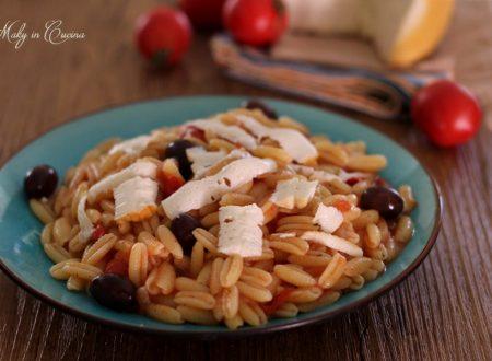 Gnocchetti sardi pomodorini olive e ricotta salata